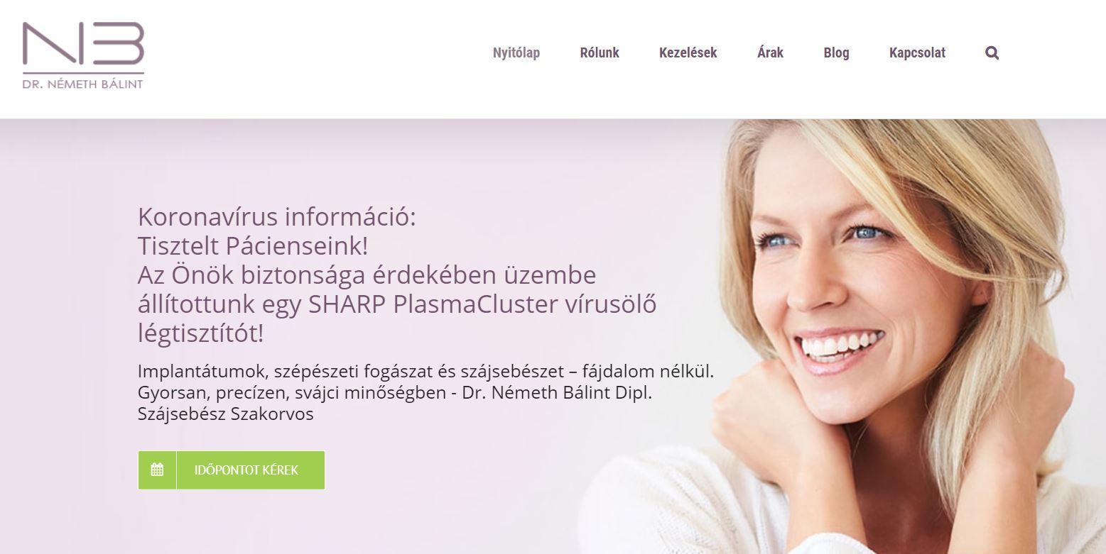 Dr. Németh Bálint szájsebész szakorvos